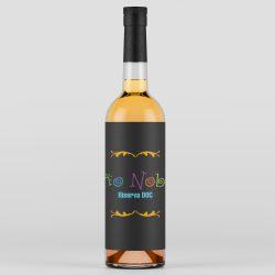 logo sbagliato sull'etichetta della bottiglia